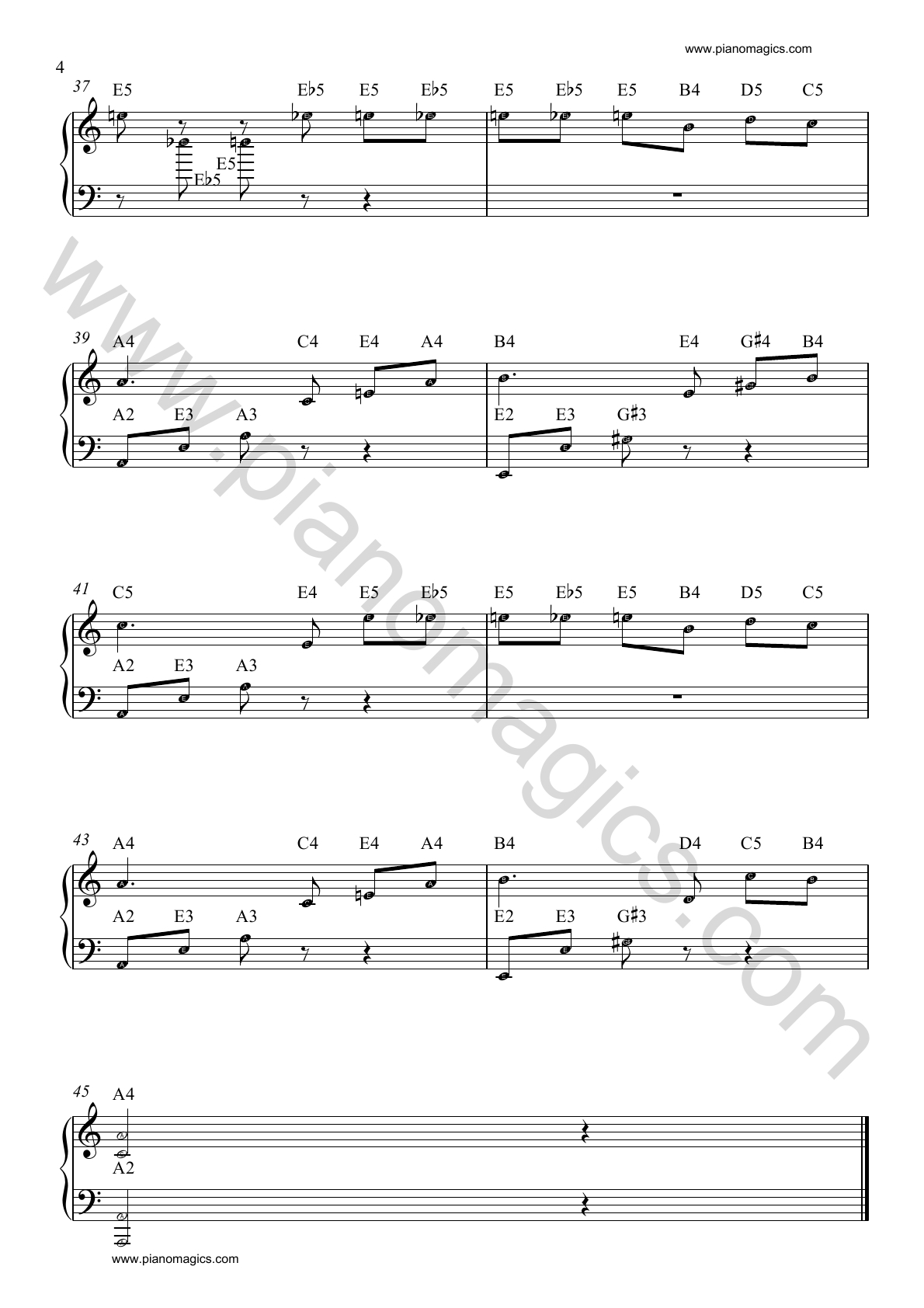 beethoven fur elise piano sheet 04